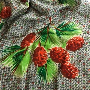 Silk Pinecone Scarf
